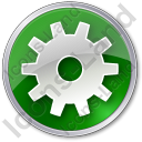 Gear Circle Green Icon, PNG/ICO, 128x128