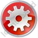 Gear Circle Red Icon