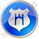 Government Badge Circle Blue Icon
