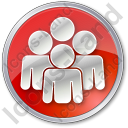 Group Circle Red Icon