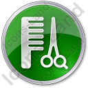 Hair Salon Circle Green Icon