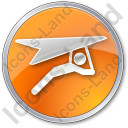 Hang Gliding Circle Orange Icon