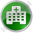 Hospital Facility Circle Green Icon