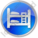 Hostel Circle Blue Icon, PNG/ICO, 128x128