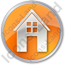 House Circle Orange Icon