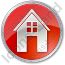 House Circle Red Icon