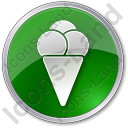 Ice Cream Circle Green Icon, PNG/ICO, 128x128
