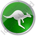 Kangaroo Circle Green Icon
