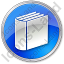 Library Book 3D Circle Blue Icon