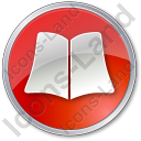 Library Book Circle Red Icon