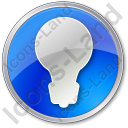 Light Circle Blue Icon