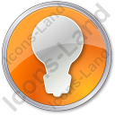 Light Circle Orange Icon