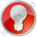 Light Circle Red Icon