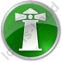 Lighthouse Circle Green Icon