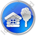 Lodge Circle Blue Icon
