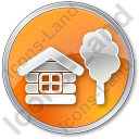 Lodge Circle Orange Icon, PNG/ICO, 128x128