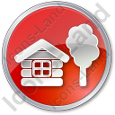 Lodge Circle Red Icon