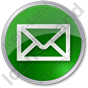 Mail Envelope Circle Green Icon, PNG/ICO, 128x128
