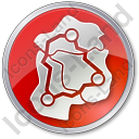 Map Roads Circle Red Icon