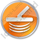 Metal Detector Circle Orange Icon