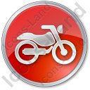 Motorcycle Circle Red Icon, PNG/ICO, 128x128