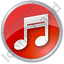 Music Circle Red Icon