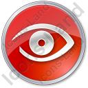 Observation Circle Red Icon