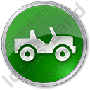 Off Road Vehicle Circle Green Icon