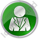 Official Circle Green Icon, PNG/ICO, 128x128