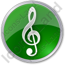 Orchestra Circle Green Icon