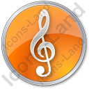 Orchestra Circle Orange Icon, PNG/ICO, 128x128
