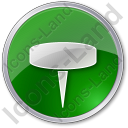 Pin Circle Green Icon, PNG/ICO, 128x128