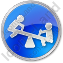 Playground Kids Circle Blue Icon