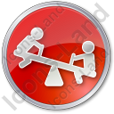 Playground Kids Circle Red Icon