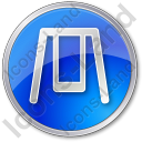 Playground Swing Circle Blue Icon