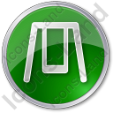 Playground Swing Circle Green Icon, PNG/ICO, 128x128