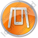 Playground Swing Circle Orange Icon