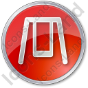 Playground Swing Circle Red Icon