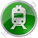 Railway Station Circle Green Icon, PNG/ICO, 128x128