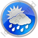 Rain Occasional Circle Blue Icon