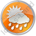 Rain Occasional Circle Orange Icon