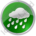 Rain Circle Green Icon, PNG/ICO, 128x128
