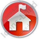 Ranger Station Circle Red Icon, PNG/ICO, 128x128
