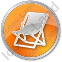 Resort Circle Orange Icon
