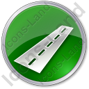 Road Circle Green Icon