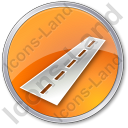 Road Circle Orange Icon, PNG/ICO, 128x128