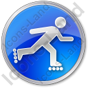 Roller Skating Circle Blue Icon, PNG/ICO, 128x128