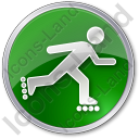 Roller Skating Circle Green Icon, PNG/ICO, 128x128