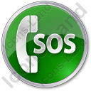 SOS Circle Green Icon