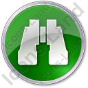 Search Circle Green Icon